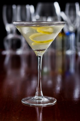 "dry martini,"" (Bond) said. ""One. In a deep champagne goblet ..."