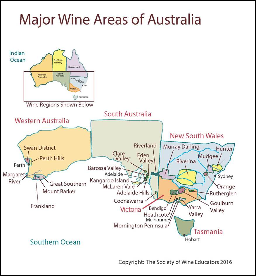 Australia Map 2017.Australia Swe Map 2017 Wine Wit And Wisdom