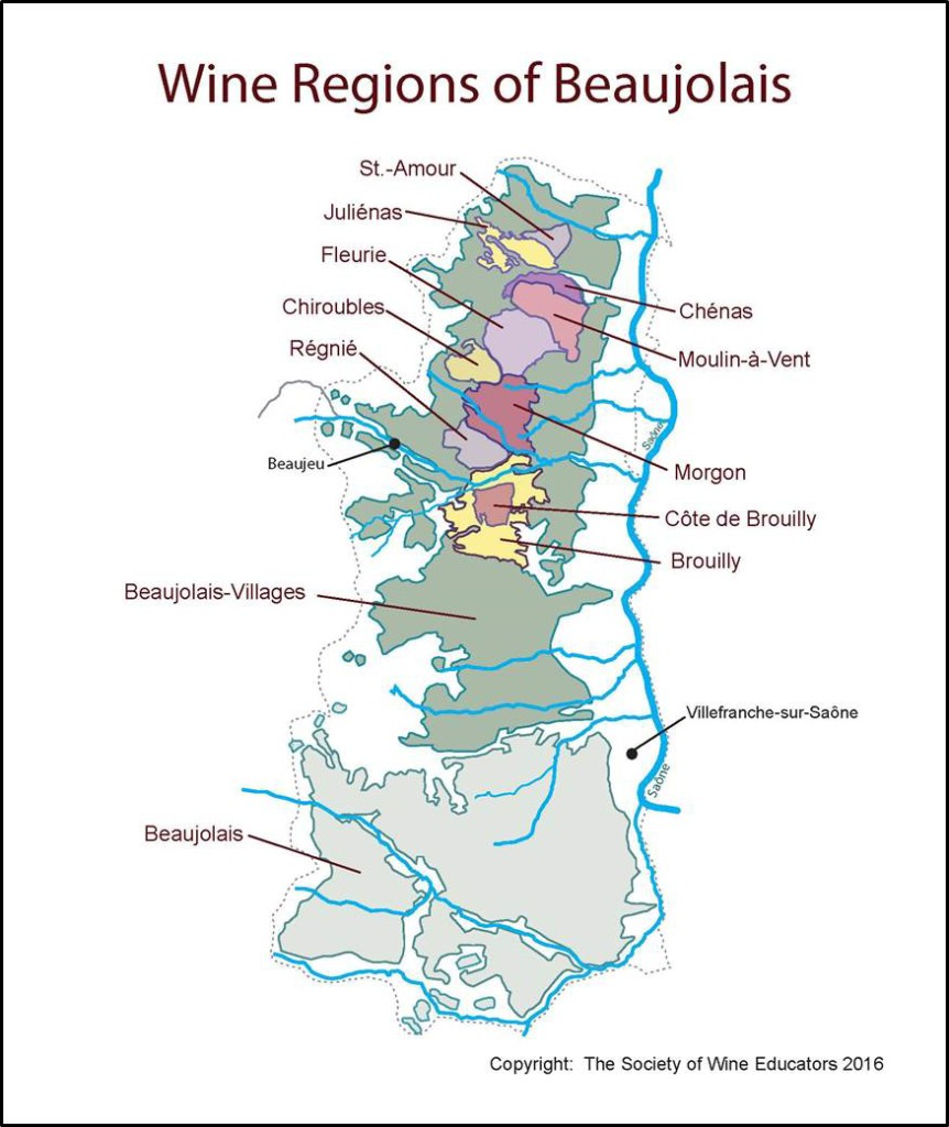 France - Beaujolais SWE Wine Map 2016