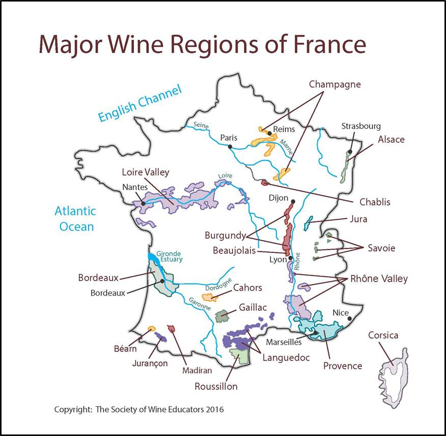 Chablis France Map.France Swe Map 2017 Wine Wit And Wisdom