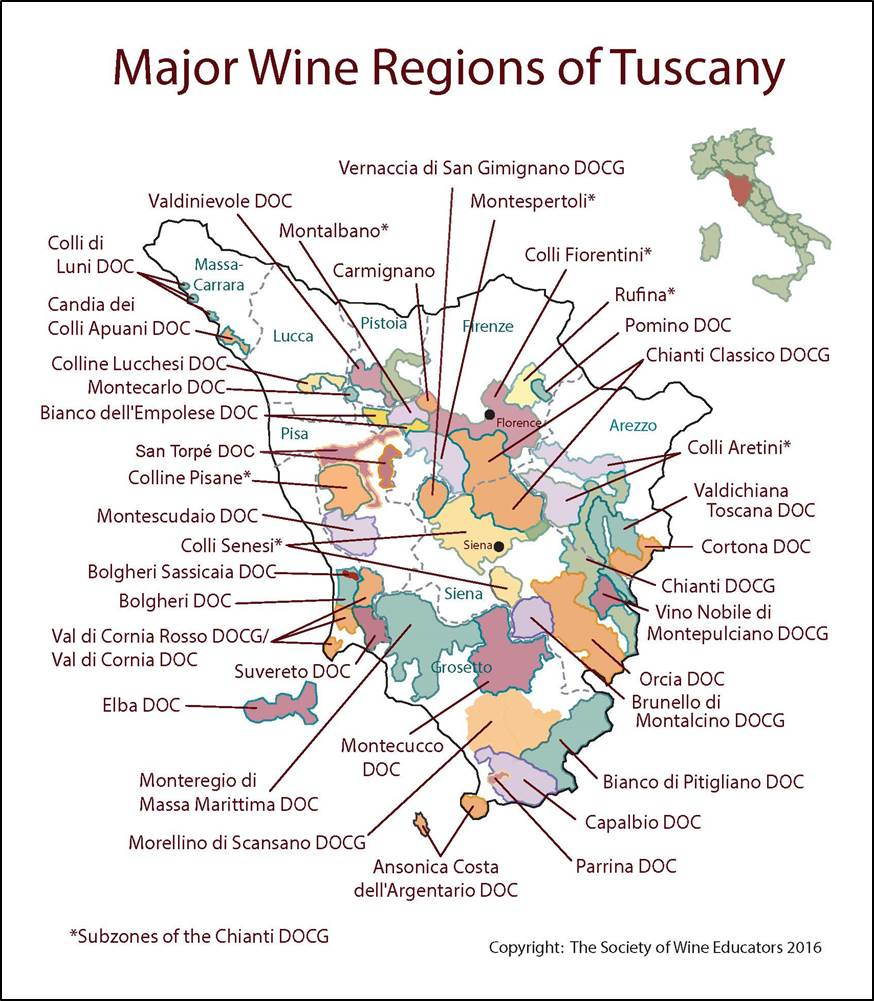 Wine Region Italy Map.Tuscany Italy Swe Map 2017 Wine Wit And Wisdom