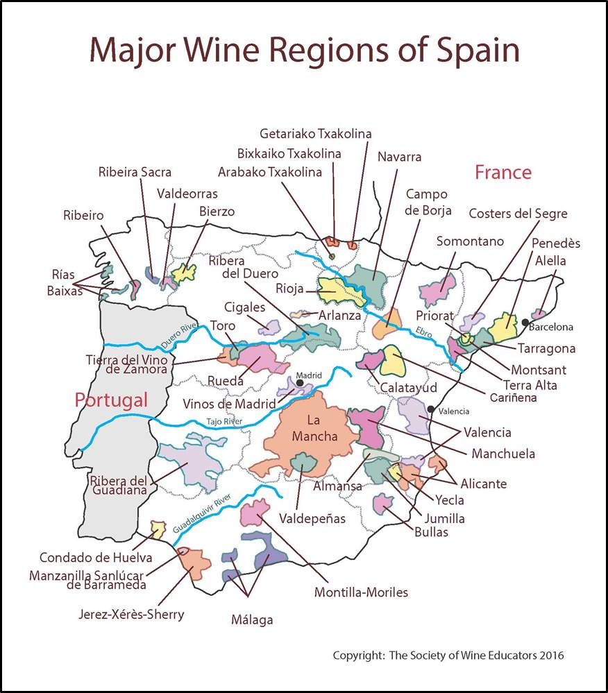 Map Of Tour Of Spain 2017.Spain Swe Map 2017 Wine Wit And Wisdom