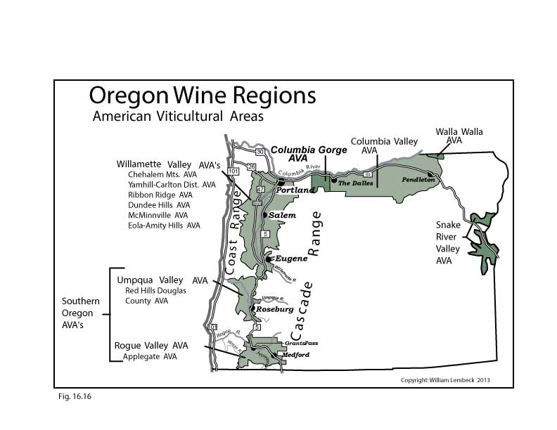 Oregon Wine Regions Map Swimnovacom - Us wine regions map