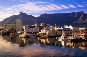 The Victoria and Alfred Waterfront, with Table Mountain in the Background