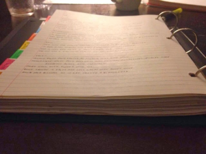 Behold, the thickness of my notes!