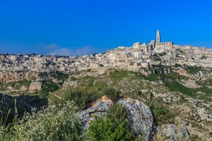 The town of Matera in Basilicata