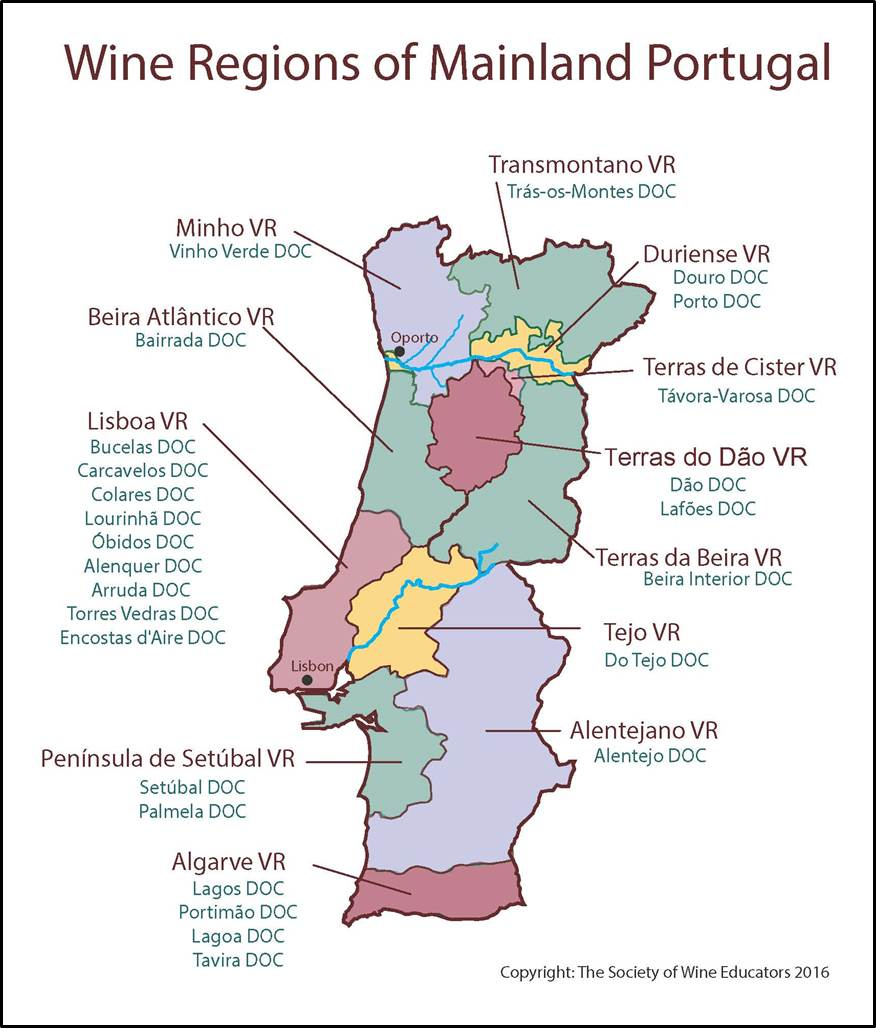 Portugal SWE Map Wine Wit And Wisdom - Portugal map minho