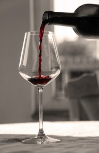 red wine one glass
