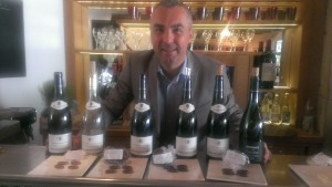 Jean-Luc Chapel tastes Valrhona chocolates with Jaboulet wines.