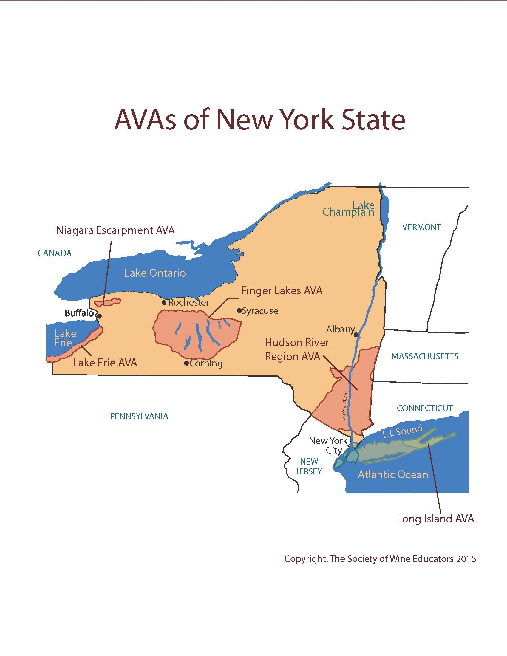 SWE Wine Map USNew York Wine Wit And Wisdom - Us wine regions map