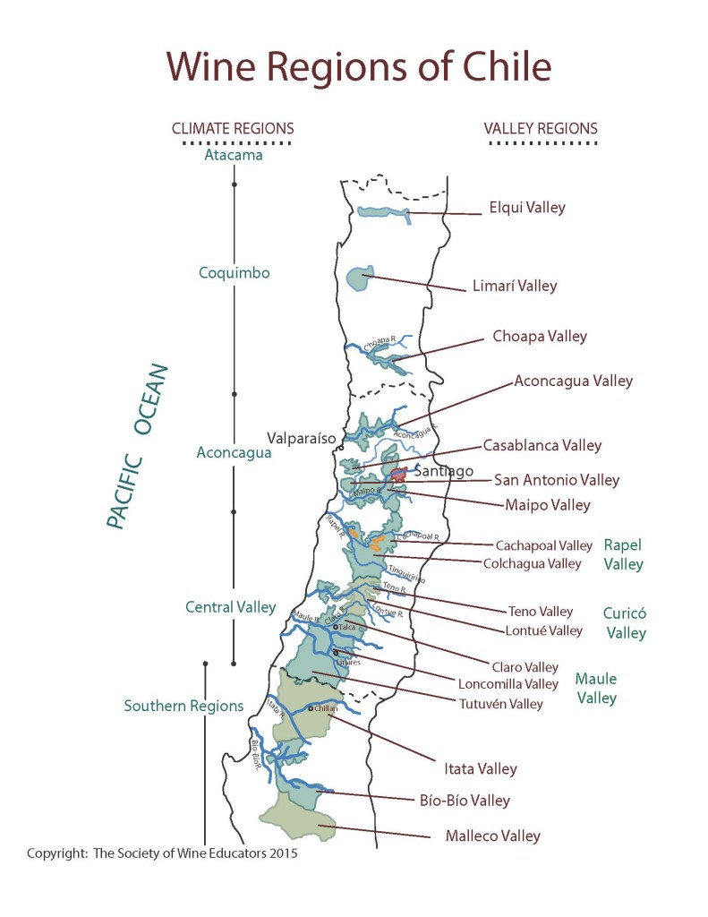 Figure 17-2 Wine Regions of Chile