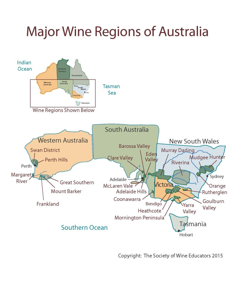 Figure 18-3 Wine Regions of Australia revised