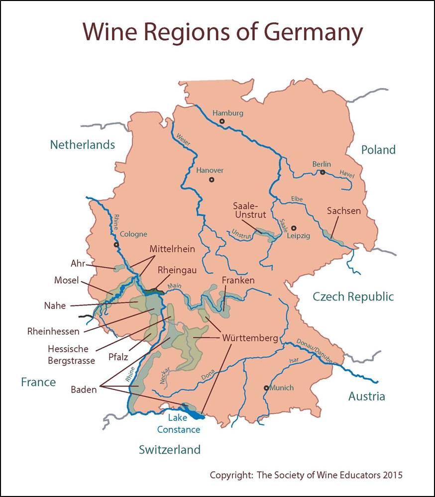 SWE Wine Map Germany Wine Wit And Wisdom - Germany map 2015