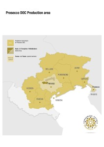 Map of Prosecco via http://www.discoverproseccowine.it/en/