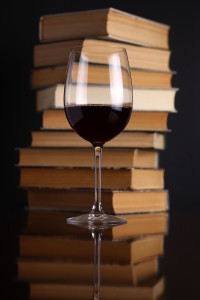 Books and red wine