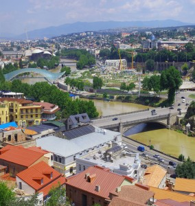 The city center of Tbilisi