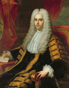 "Portrait of ""The Right Honorable John Methuen"" by Adrien Carpentiers (1769s) work and photograph in the Public Domain"