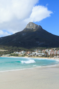 Camps Bay Beach and Lion Head Mountain in Cape Town, South Africa