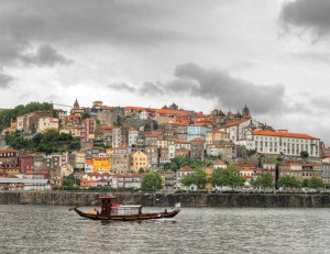 Portugal's Douro River, with Oporto in the background