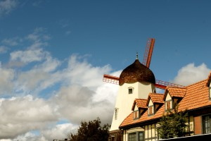 One of the windmills of Solvang, California
