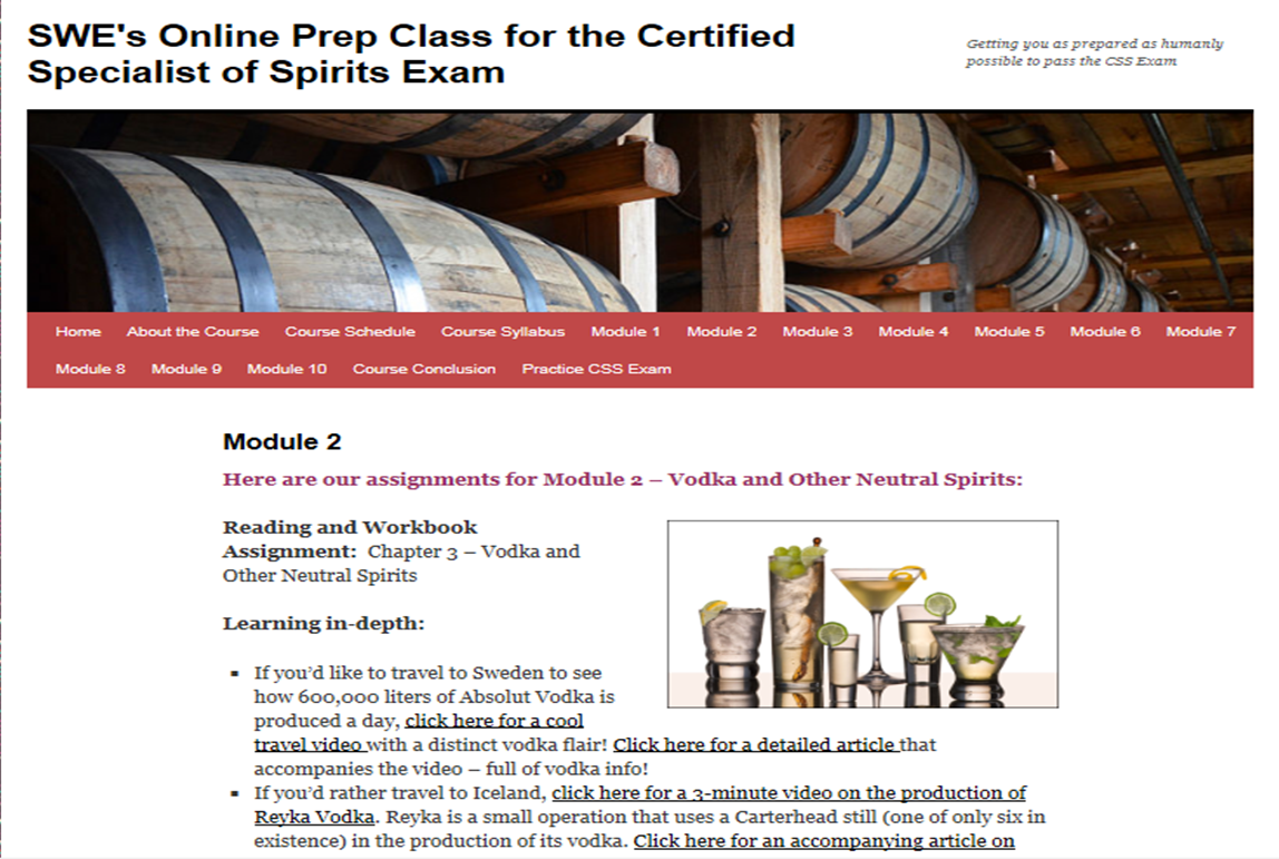 Additional Resources for CSS Candidates – Wine, Wit, and Wisdom