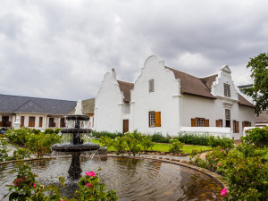 Cape Dutch architecture in Stellenbosh