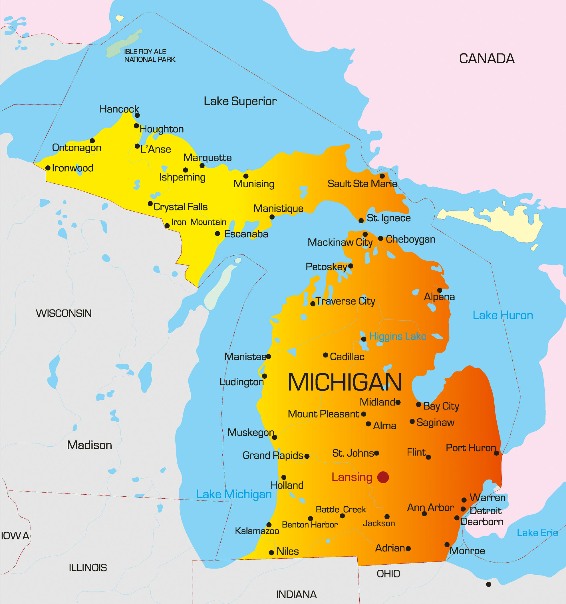 July Wine Wit And Wisdom - Michigan wineries map