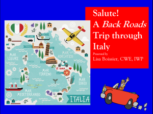 A trip through the back roads of Italy!