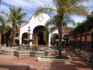 The courtyard at Adobe Guadalupe (Photo Credit: Matilde Parente)