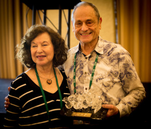 Bill and Harriet Lembeck with the Lembeck Award