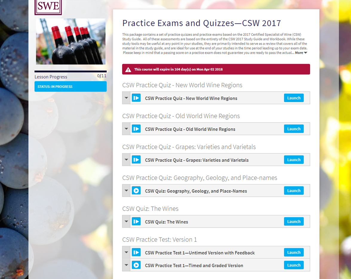 Additional Resources For Csw Candidates Wine Wit And Wisdom