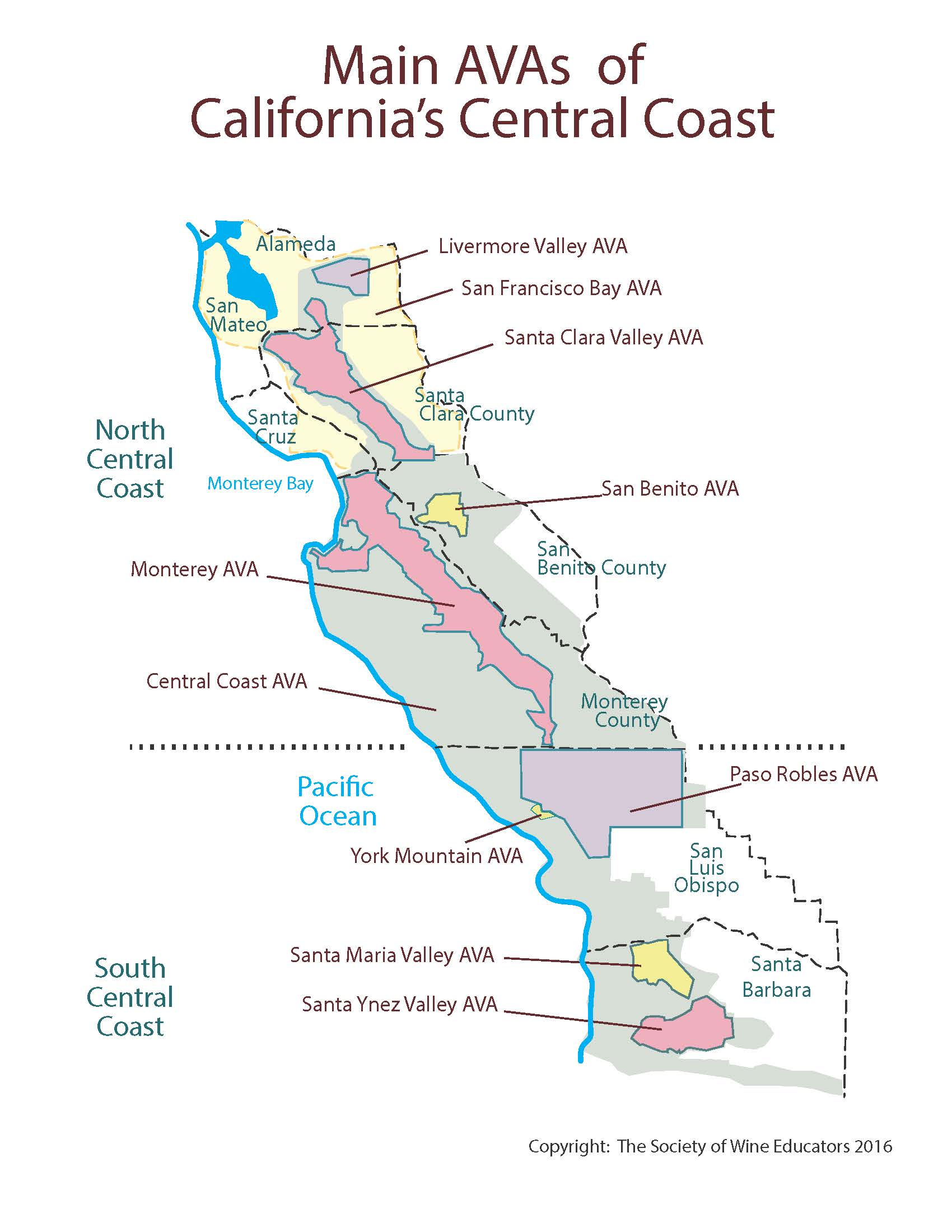 California—Central Coast: SWE Map 2018 – Wine, Wit, and Wisdom on