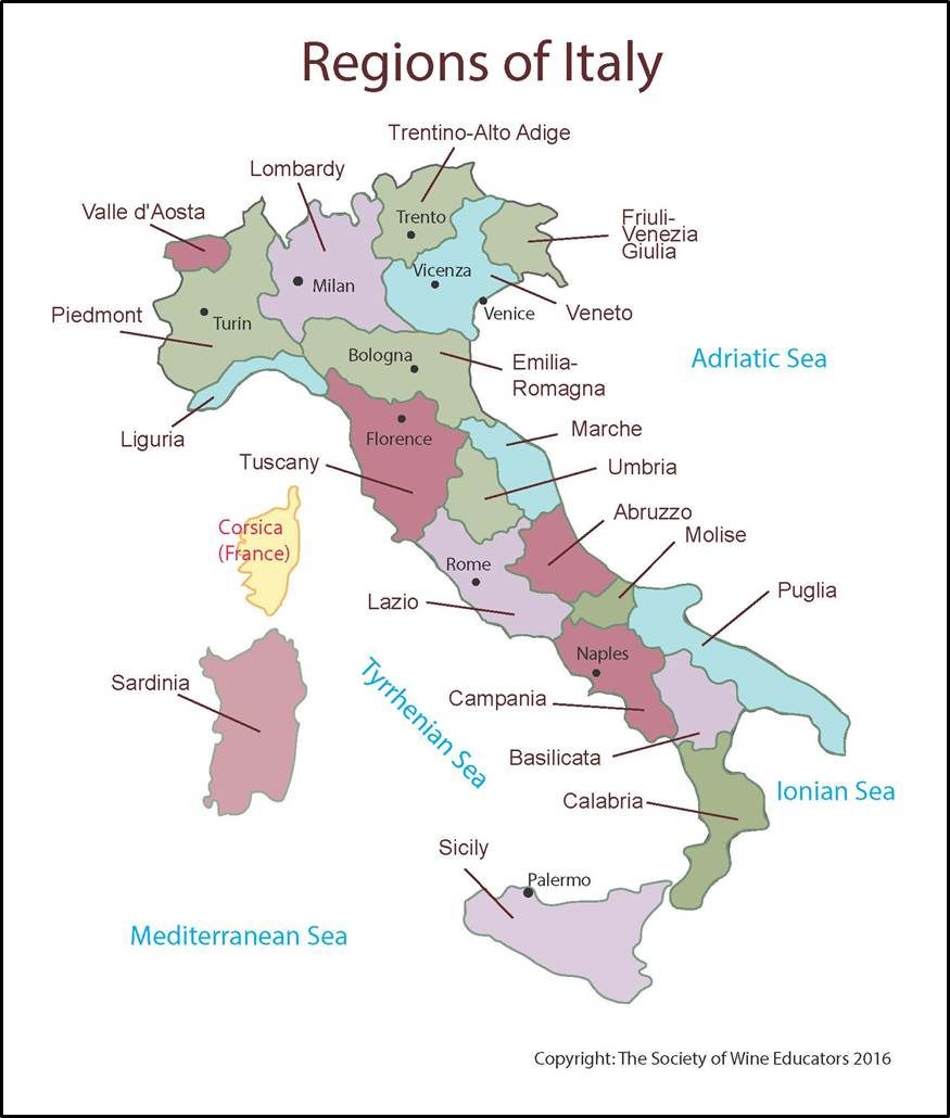 Italy SWE Map 2018 Wine Wit and Wisdom