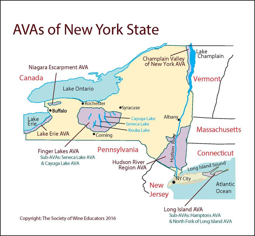 US—New York State: SWE Map 2018 – Wine, Wit, and Wisdom