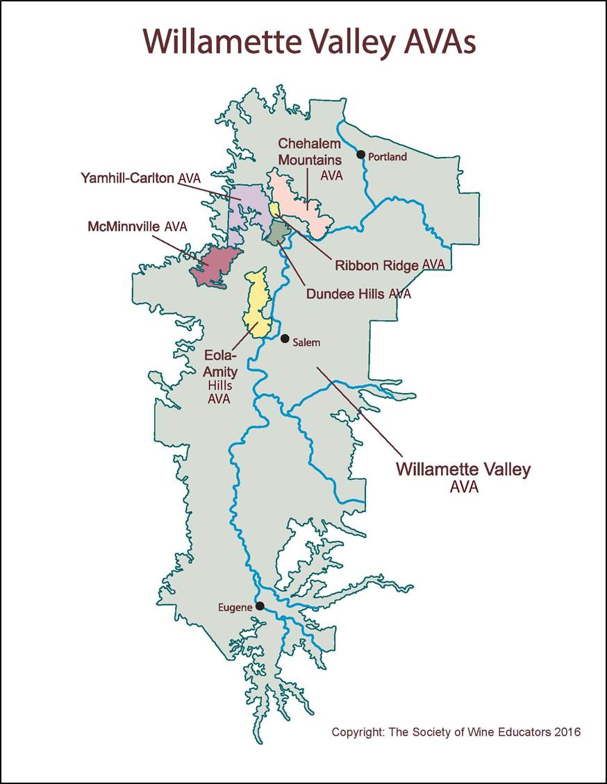 US—Oregon's Willamette Valley: SWE Map 2018 – Wine, Wit, and Wisdom