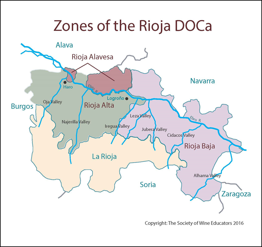 Spain Rioja DOCa SWE Map 2018