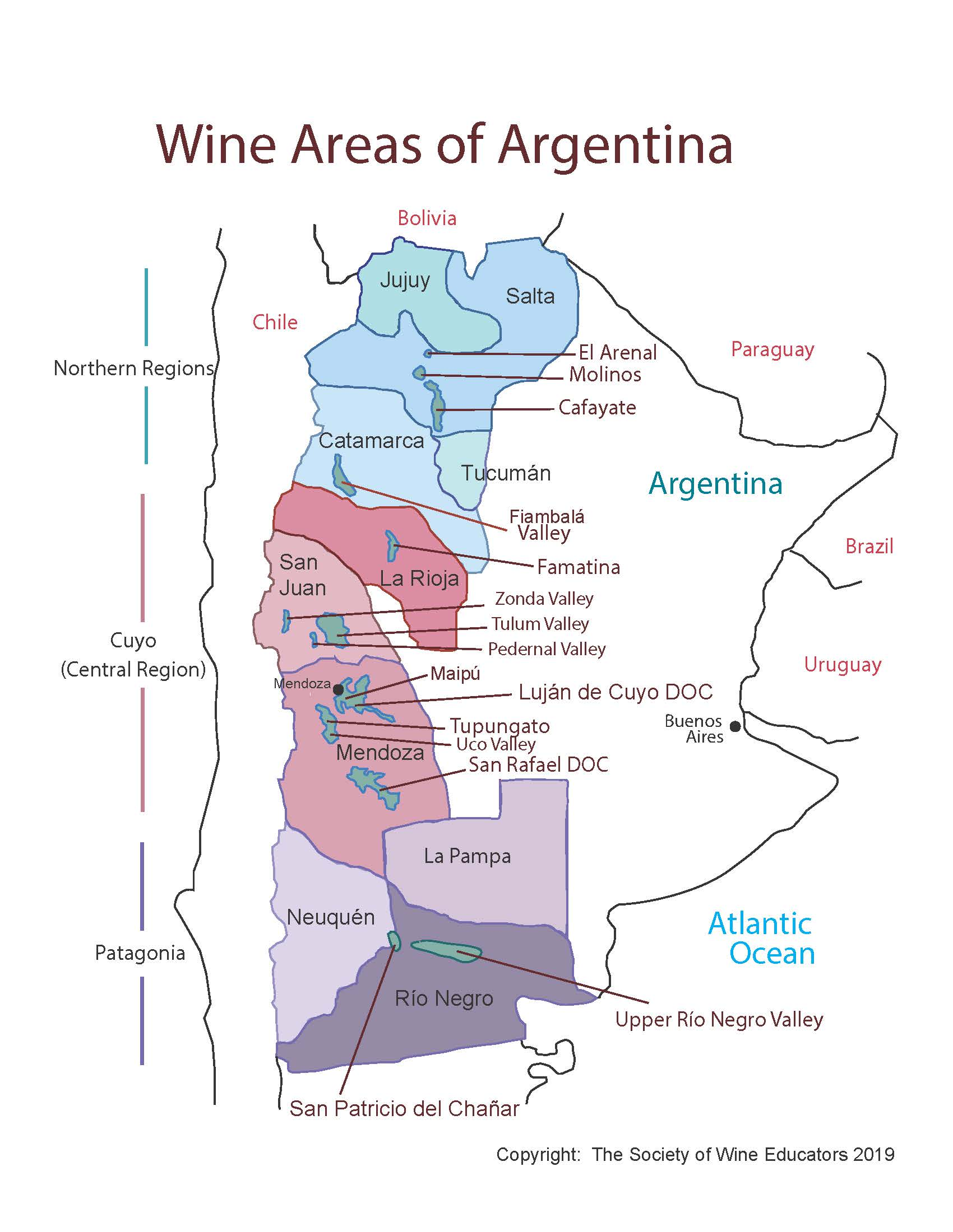Argentina—SWE Map 2019 – Wine, Wit, and Wisdom