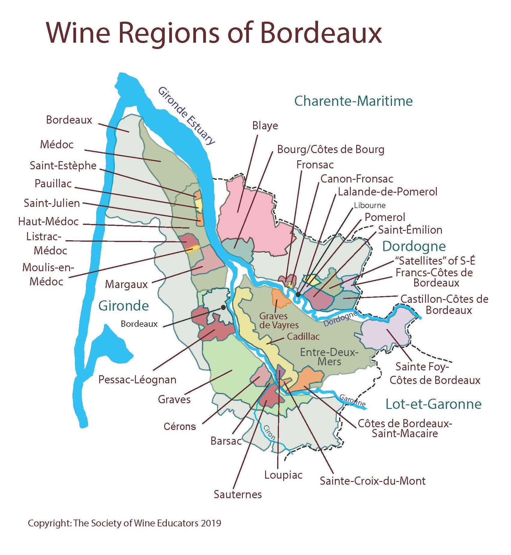 Map Of France Bordeaux.Swe Map 2019 France Bordeaux Wine Wit And Wisdom