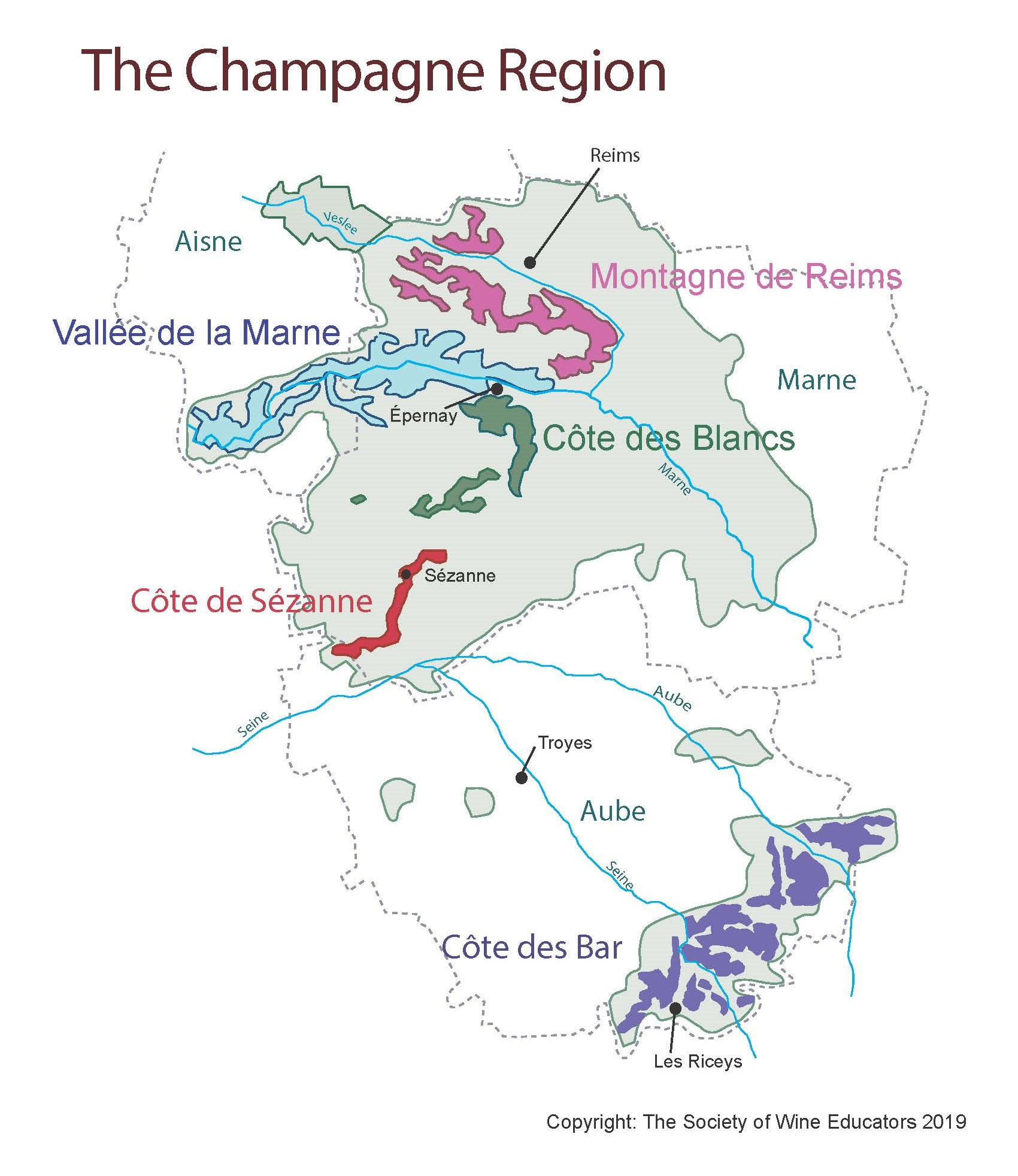 SWE Map 2019: France—Champagne – Wine, Wit, and Wisdom Champagne Region Of France Map on