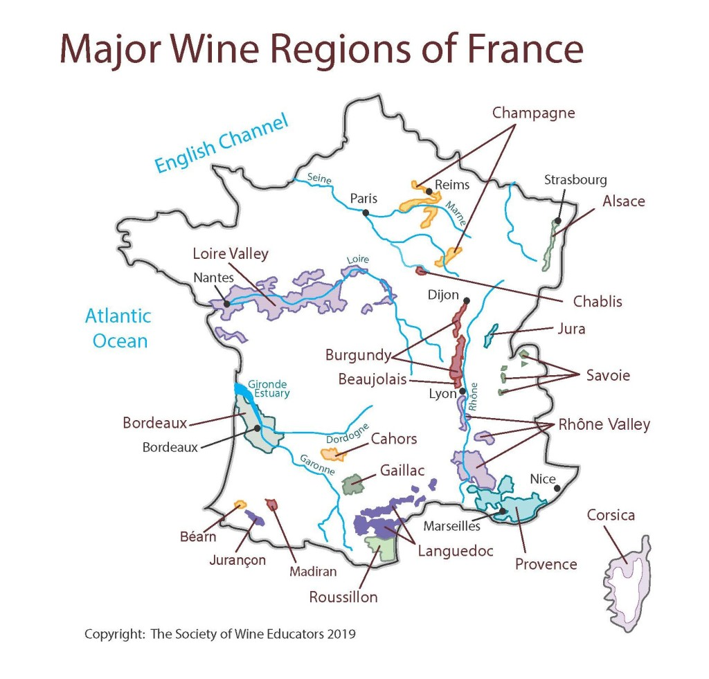 Chablis France Map.France Swe Map 2019 Wine Wit And Wisdom