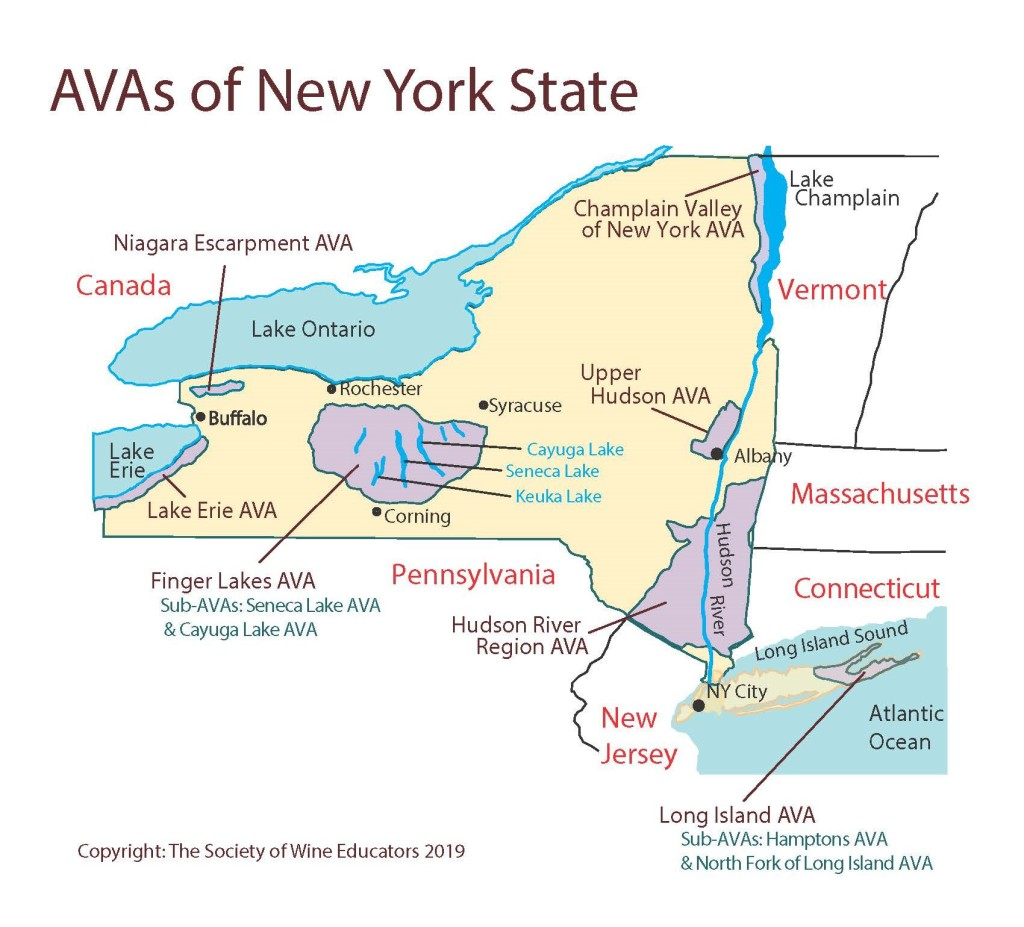 US: New York State—SWE Map 2019 – Wine, Wit, and Wisdom