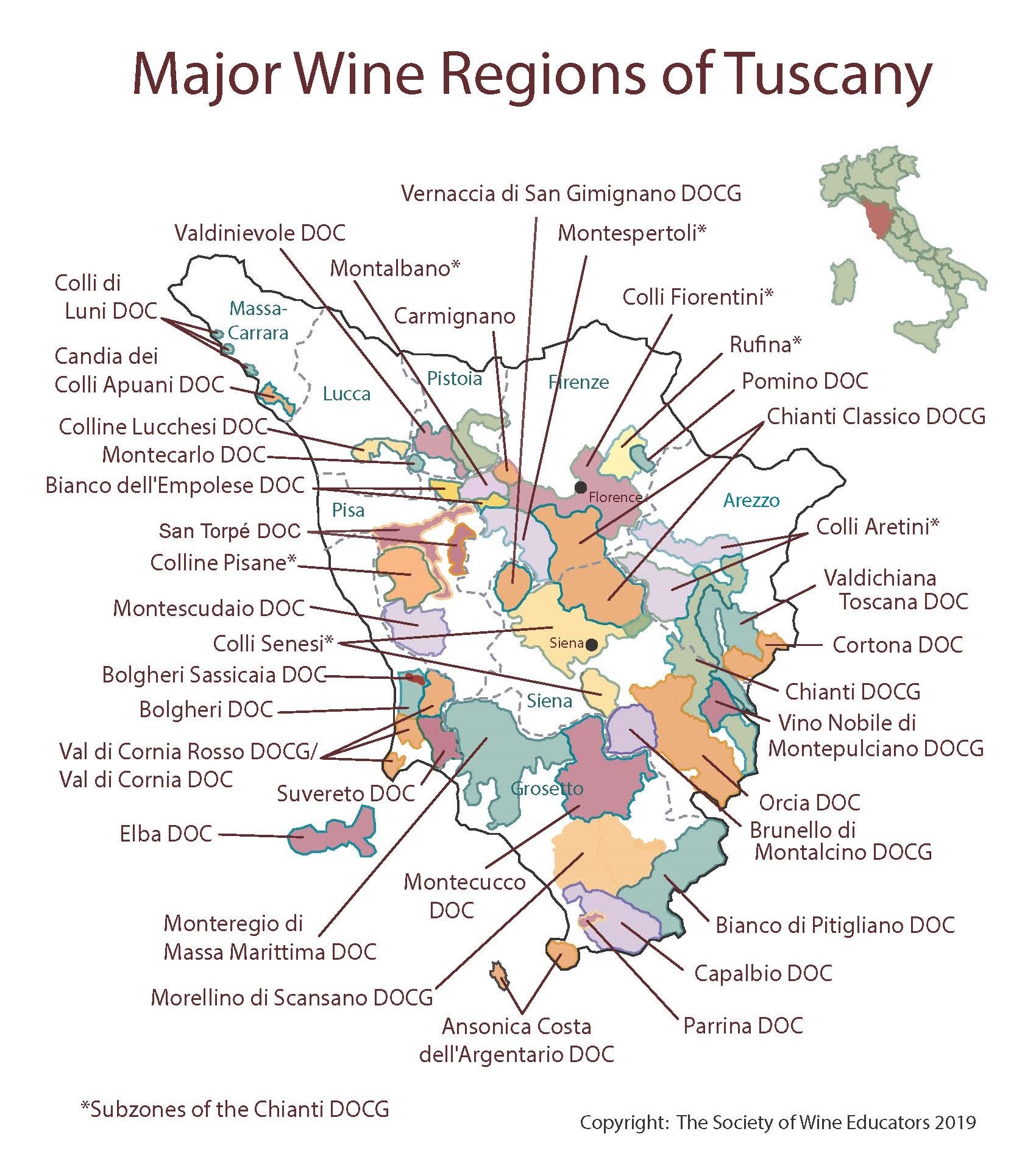 Tuscany On Map Of Italy.Swe Map 2019 Italy Tuscany Wine Wit And Wisdom