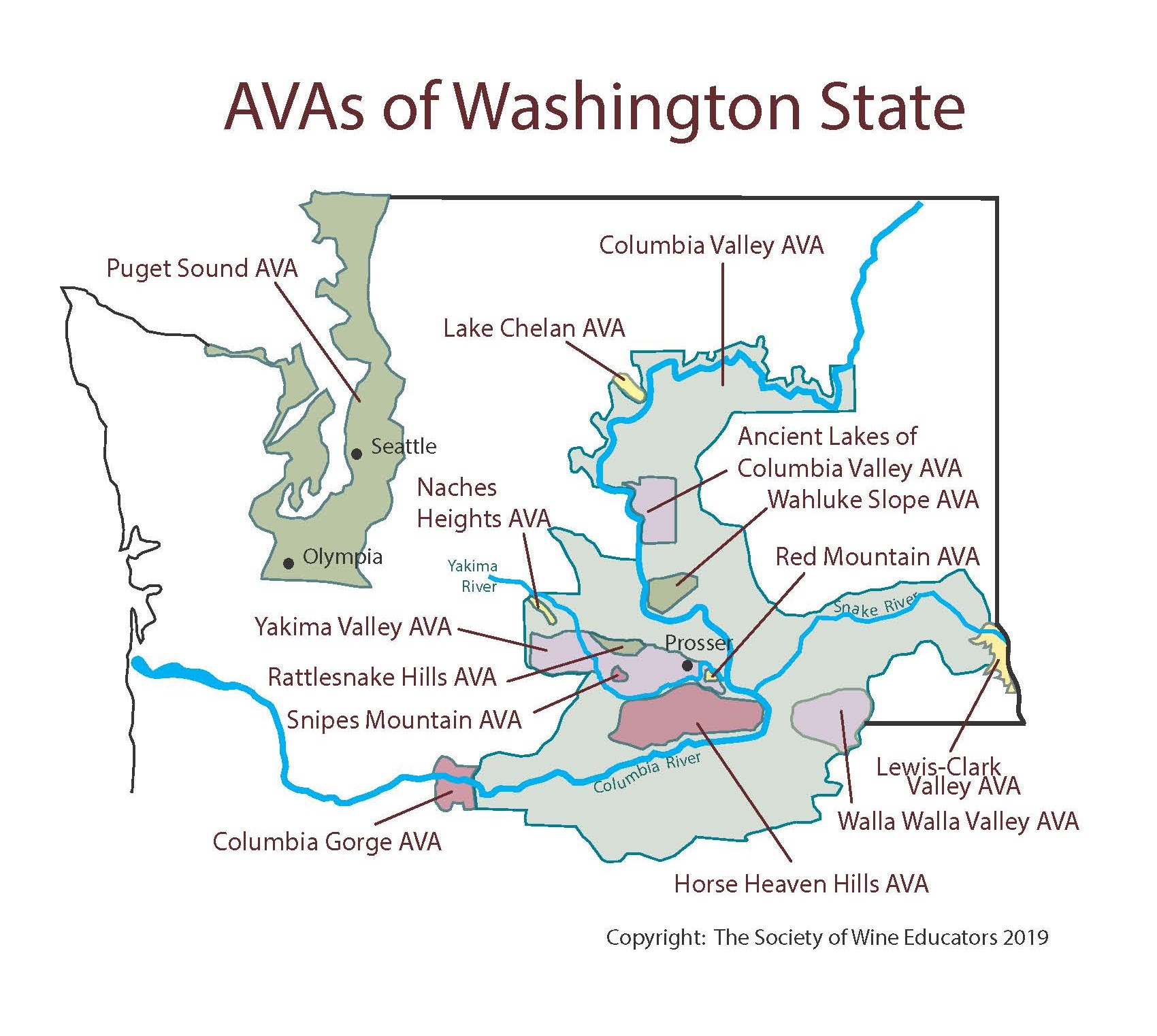 Us Washington State Swe Map 2019 Wine Wit And Wisdom