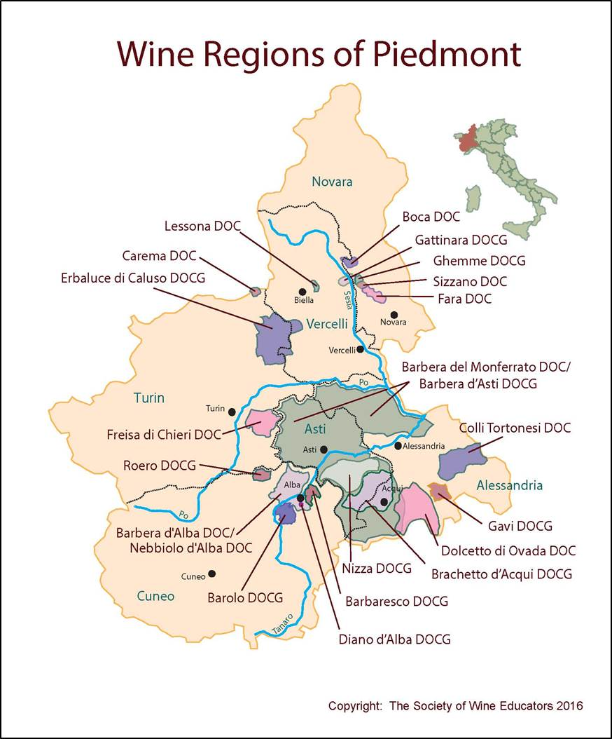 Piedmont Italy Map Piedmont – Italy – SWE Map 2017 – Wine, Wit, and Wisdom Piedmont Italy Map