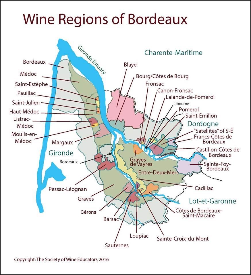 Bordeaux France Map France—Bordeaux: SWE Map 2018 – Wine, Wit, and Wisdom